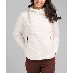 Prana Bone Diva Wrap Quilted Jacket Small